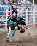 Atos de SureShot - irmãs, rodeio 2011 de Oregon Fotos de Stock Royalty Free