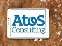 Atos ordynacyjnej firmy logo Zdjęcie Stock