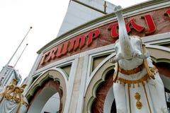 Atout Taj Mahal avec des éléphants Images libres de droits
