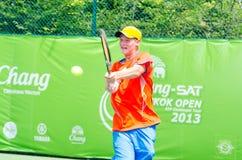 ATP挑战者张- SAT曼谷打开2013年 库存照片