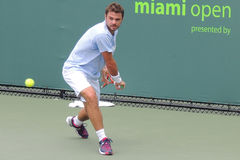 ATP网球专家斯坦尼斯拉斯・瓦夫林卡 免版税库存照片
