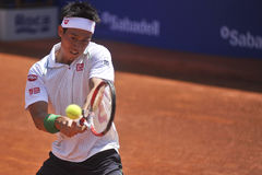 ATP 2014 de Kei Nishikori Open 500 Imagen de archivo libre de regalías