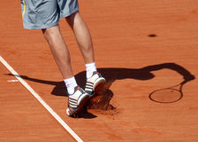 ATP Tennis player serves Royalty Free Stock Image
