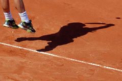 ATP Tennis player serves Stock Images