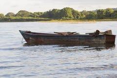 AtPunta Jesus Maria, isla del barco de pesca de Ometepe Fotografía de archivo libre de regalías