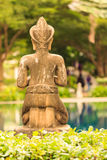 Atrás da estátua Imagens de Stock
