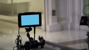 Atrás da tela digital da opinião da produção video imagens de stock royalty free