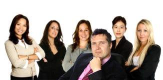 Atrás de cada homem de negócios Foto de Stock Royalty Free