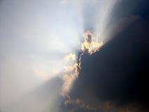 Atrás de cada nuvem. foto de stock royalty free