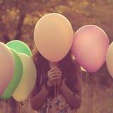Atrás do balão Fotografia de Stock