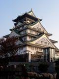 Atrás do castelo exterior de Himeji fotografia de stock
