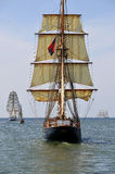 Atrás do sailboat Imagens de Stock