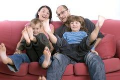 Atrás do sofá Imagens de Stock