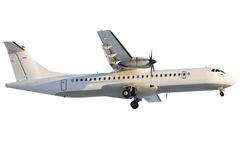 ATR-72 regional airplane at landing Royalty Free Stock Photography