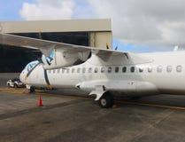 ATR 72 Air Austral de Aeroespacial/Alenia imagem de stock
