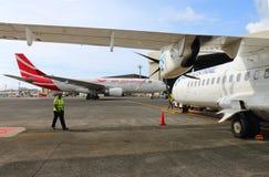 ATR 72 Air Austral de Aeroespacial/Alenia imagem de stock royalty free