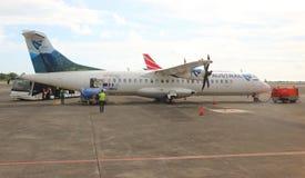 ATR 72 Air Austral de Aeroespacial/Alenia foto de stock royalty free