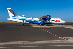 ATR 72 Cabo Verde Airlines Royalty Free Stock Photos