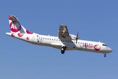 ATR-72 configuré par cargaison photographie stock