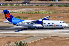 ATR 72-200 d'Israir Airlines photo libre de droits