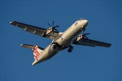 ATR 72 de Austrália do Virgin na aproximação final a Sydney Airport terça-feira 23 de maio de 2017 Fotografia de Stock