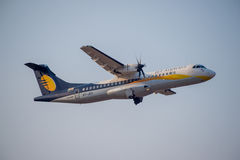 ATR de Jet Airways, image d'Inde-actions image stock