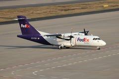 ATR 42F de conducteur de Fedex image libre de droits
