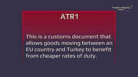 ATR1 - Freight and shipping terms. The forwarding and logistics industries