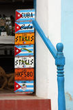 Traditional Licence Plates - Art in Trinidad, Cuba Royalty Free Stock Images