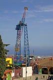 Atração de Atalaya do La no parque de diversões de Tibidabo, Barcelona, Catalonia, Espanha Fotografia de Stock