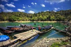 A atração do porto em Tailândia Imagens de Stock