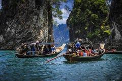A atração do porto em Tailândia Fotos de Stock Royalty Free