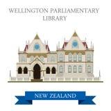 Atração do vetor de Wellington New Zealand da biblioteca parlamentar ilustração do vetor