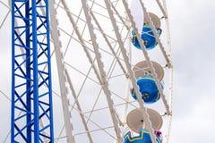 A atração grande da roda de ferris Foto de Stock
