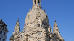 Atração, igreja de Frauenkirche de nossa senhora vídeos de arquivo