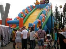 Atração inflável Imagens de Stock