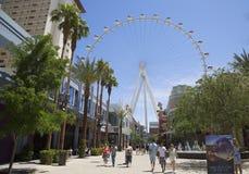 A atração a mais nova de Las Vegas o rolo alto Ferris Wheel Fotografia de Stock Royalty Free