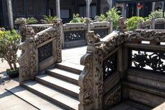 Atração turística famosa do ` s de Guangzhou, China, o salão ancestral de Chen, uma casa com uma característica arquitetónica dis Fotos de Stock
