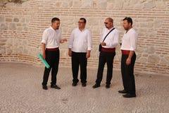 Atração turística na Croácia/cantores de Klapa Fotos de Stock Royalty Free