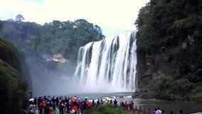 Atrações da cachoeira de Huangguoshu video estoque