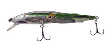 Atrações do girador isoladas no fundo branco pescar giradores e wobblers multi-coloriu imagem de stock royalty free