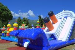 Atrações infláveis das crianças Imagem de Stock Royalty Free