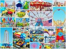 Atrações New York de Luna Park do Coney Island imagens de stock royalty free