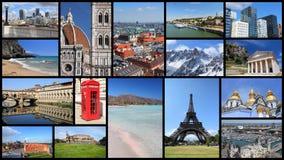 Atrações turísticas de Europa foto de stock royalty free