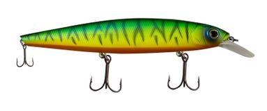 Atra??es do girador isoladas no fundo branco pescar giradores e wobblers multi-coloriu imagem de stock