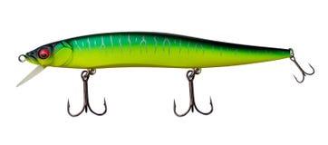 Atra??es do girador isoladas no fundo branco pescar giradores e wobblers multi-coloriu imagem de stock royalty free