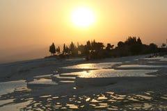Atracción de Pamukkale Turquía Imagenes de archivo