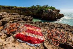 Atracción de Puente de Piedra Cabo Rojo Puerto Rico fotos de archivo libres de regalías