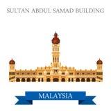 Atracción de Sultan Abdul Samad Building Malaysia que hace turismo Fotografía de archivo libre de regalías