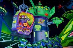 Atracción del año ligero del zumbido de Disney Foto de archivo libre de regalías